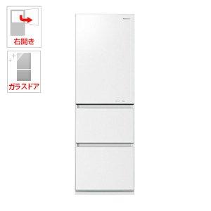 パナソニック 365L 3ドア冷蔵庫(スノーホワイト)【右開き...