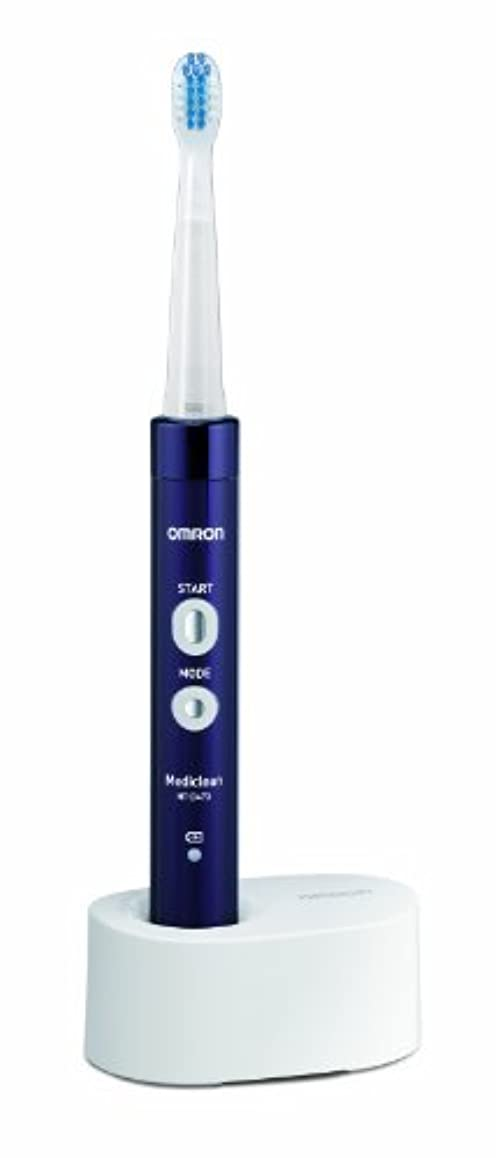 特徴づけるリットルアクセスオムロン 音波式電動歯ブラシ メディクリーン HT-B473-V パープル