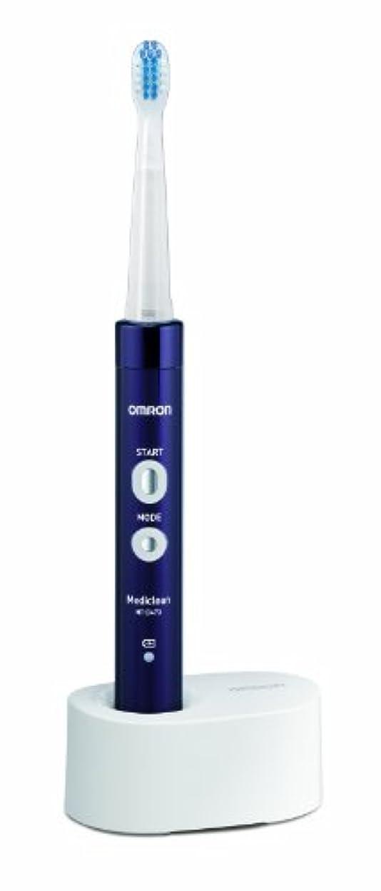 包帯ムスでもオムロン 音波式電動歯ブラシ メディクリーン HT-B473-V パープル