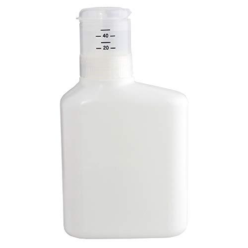 レック 押して計量 詰め替え 洗剤ボトル 1000ml ( 液体洗剤用 ) 無地 ホワイト デザインシール付き W00108