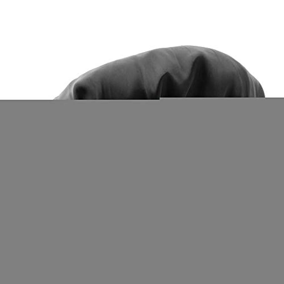 愛請願者上向きToygogo シャワーキャップ 入浴キャップ 美容 キャップ 帽子 ヘッドカバー サテン 家事 SPA 全6色 - ブラック