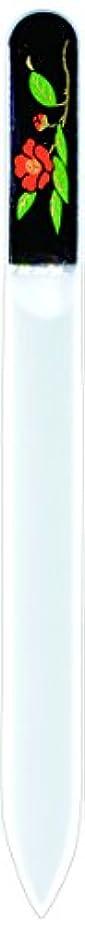 ライオン条件付ききらめき橋本漆芸 ブラジェク製高級爪ヤスリ 十一月 紅葉 紙箱
