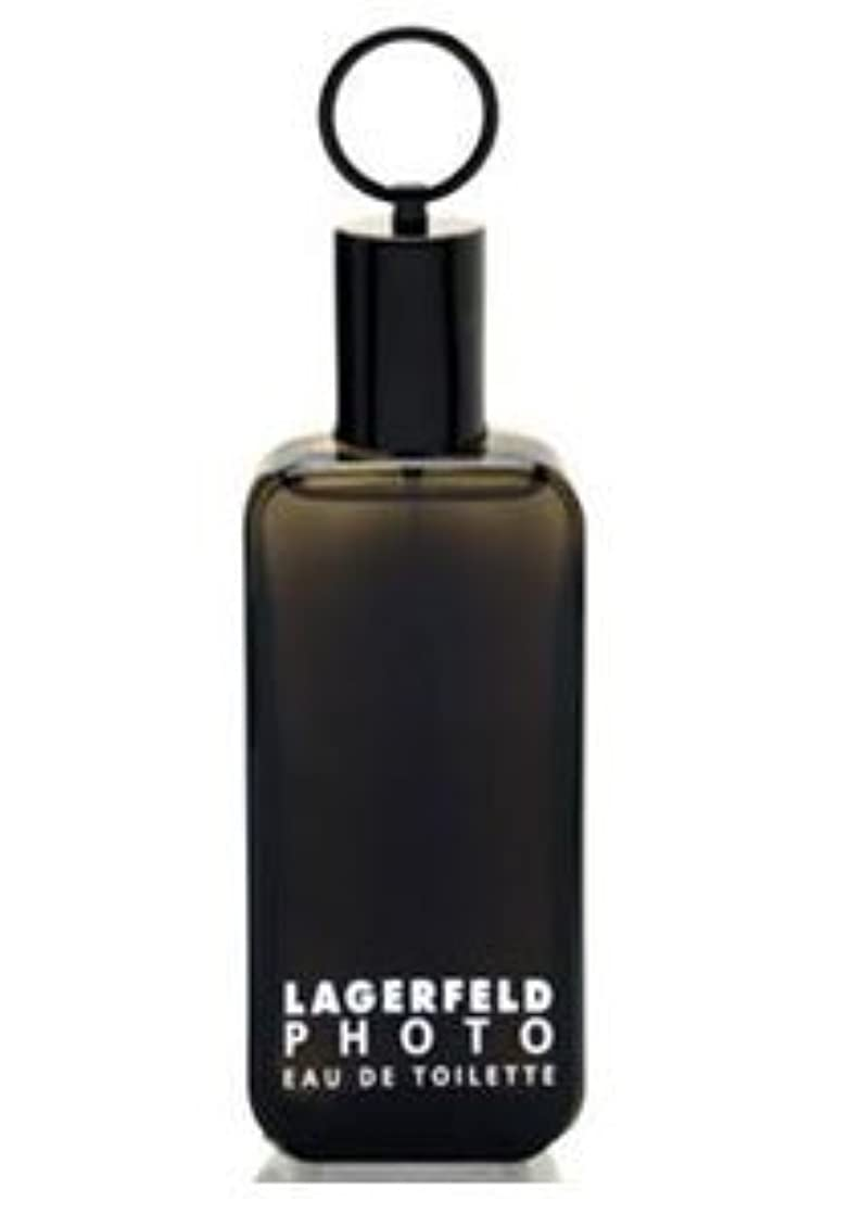 タイプ未使用率直なPhoto (フォト) 4.2 oz (125ml) EDT Spray by Karl Lagerfeld for Men