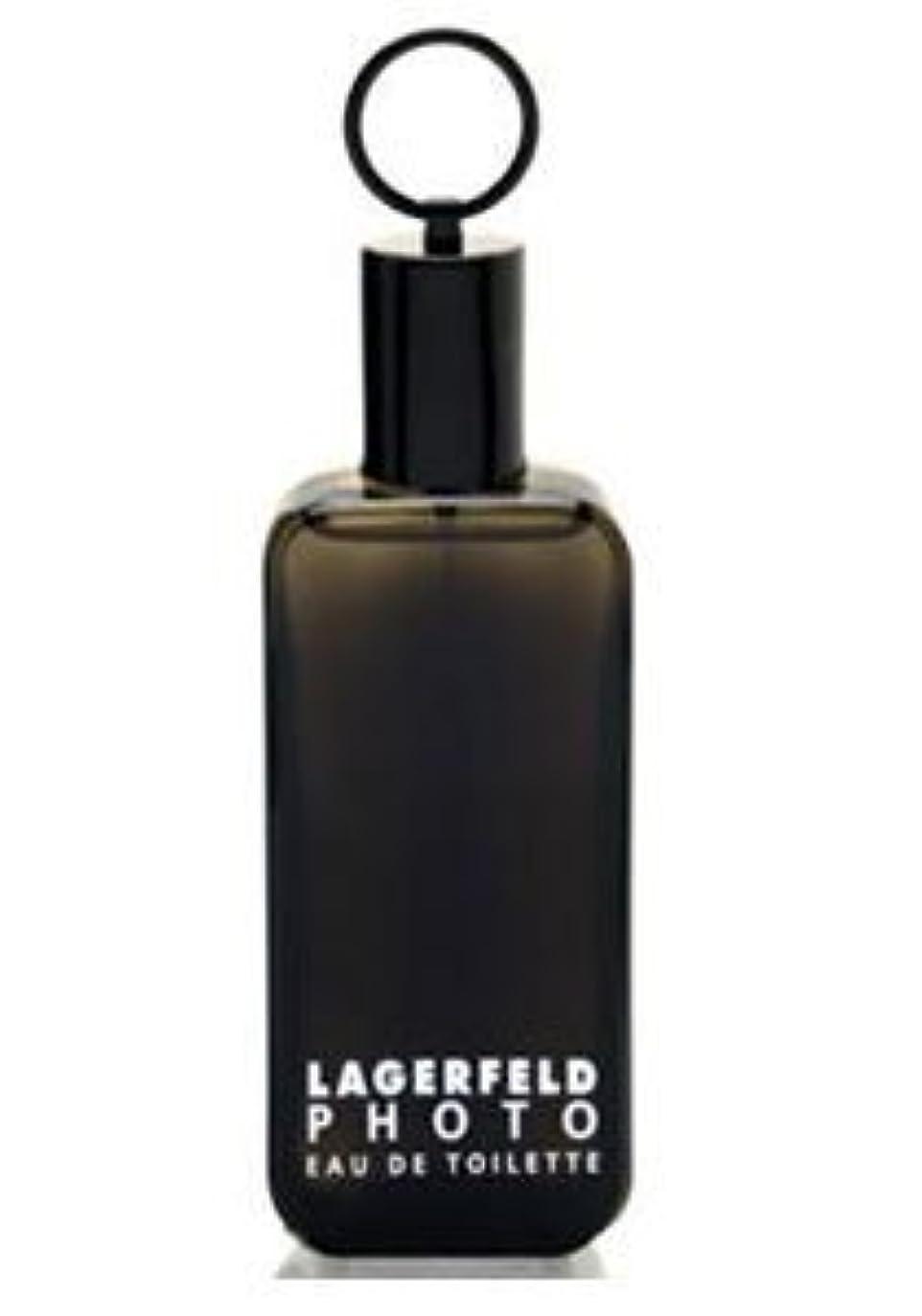 腹部滞在柱Photo (フォト) 4.2 oz (125ml) EDT Spray by Karl Lagerfeld for Men