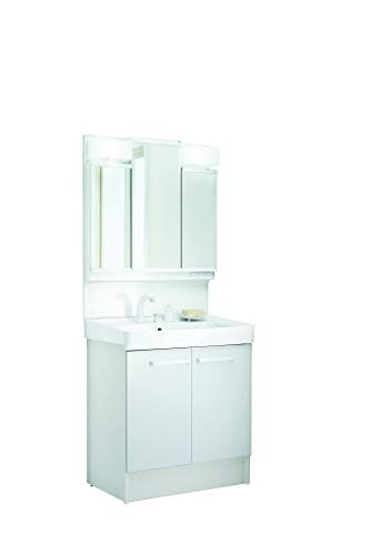 LIXIL(リクシル) INAX 洗面化粧台【上下セット品】D7シリーズ 幅75cm 両開き 三面鏡 ホワイト MD7X2-753TYJ+D7N4-755SY1-W/VP1W