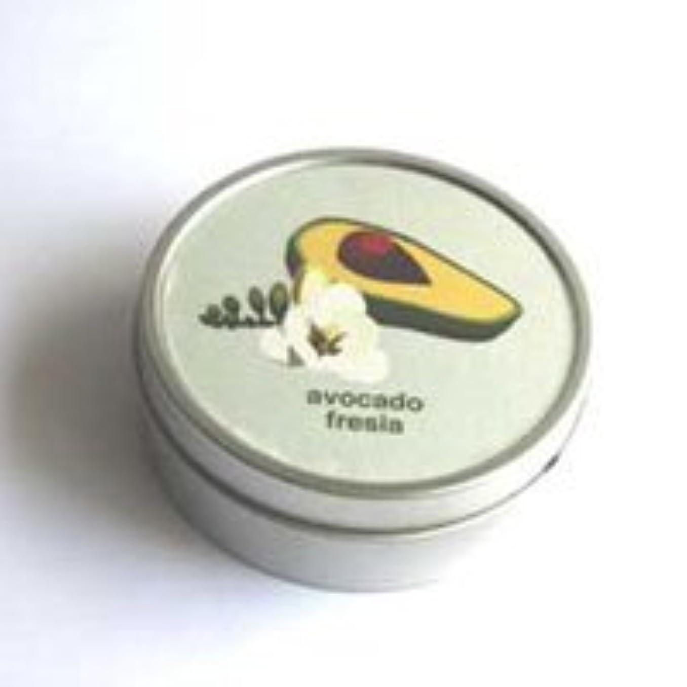 認める排除するキノコマインデザイン トラベルソイキャンドル (アボカドフリージア)