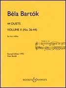 Bart?k: 44 Violin Duets - Volume 2 (Nos. 26-44) [並行輸入品]