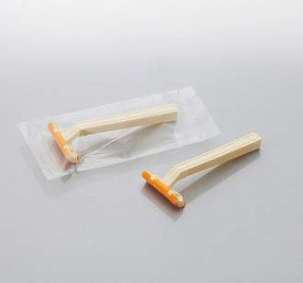 腕古代通信網カミソリ アメニティロード2 固定式2枚刃2000本 透明OP袋入 daito