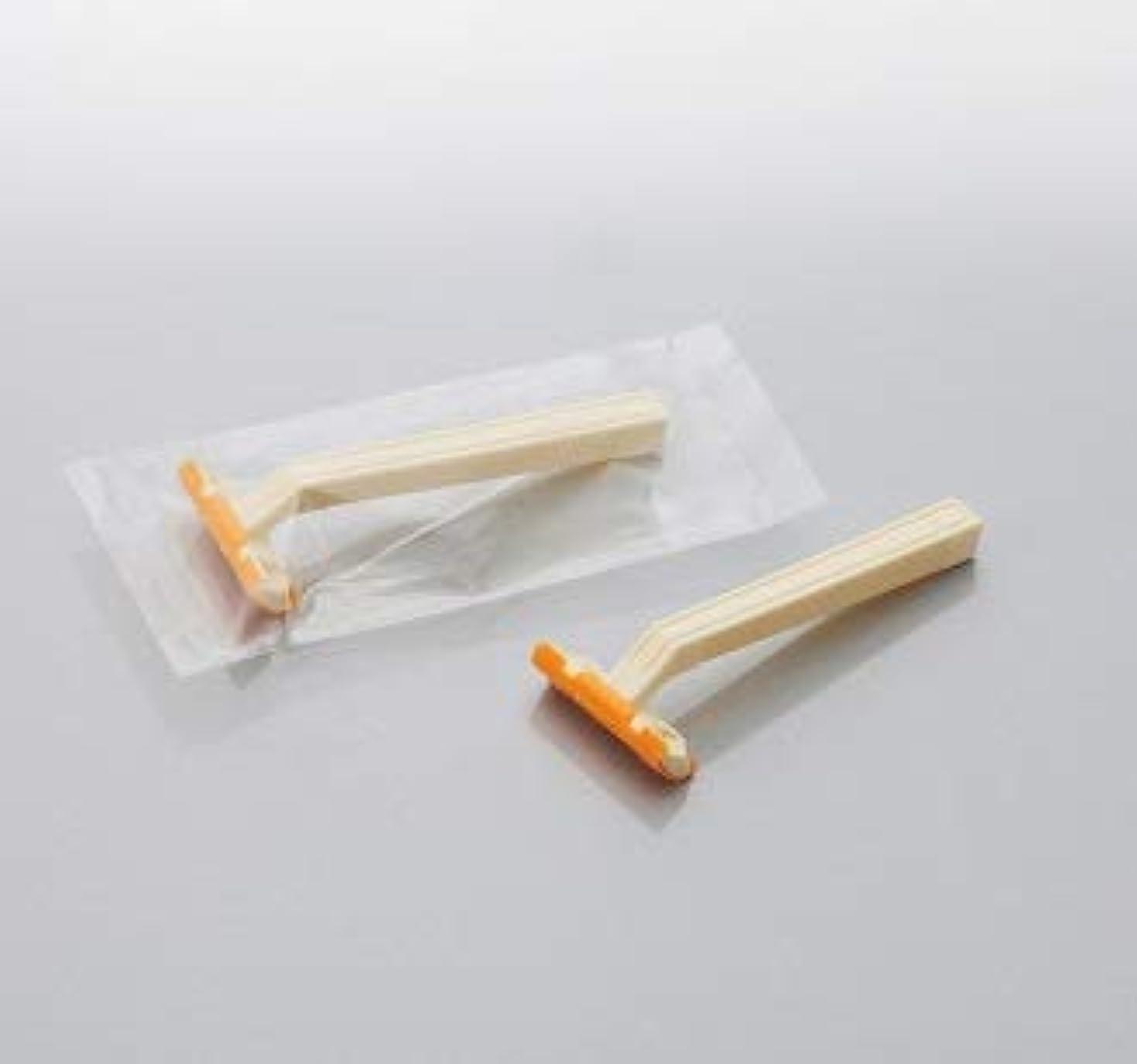 勇者キー国旗カミソリ アメニティロード2 固定式2枚刃2000本 透明OP袋入 daito