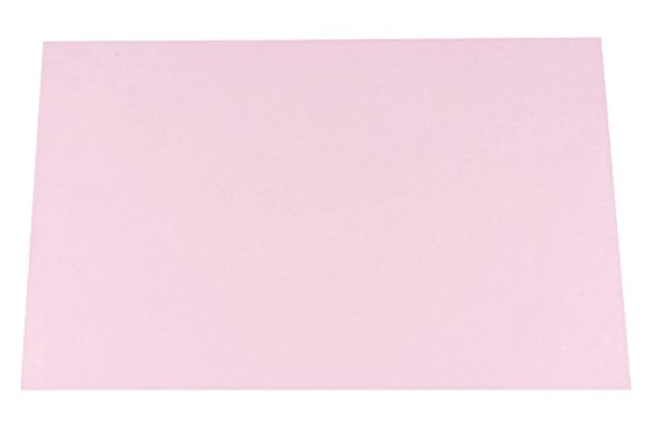 チョークアナウンサーインク若泉漆器 上質紙マット 尺3寸長手テーブルマット 無地マットシリーズ ピンク 100枚入 B-26-82