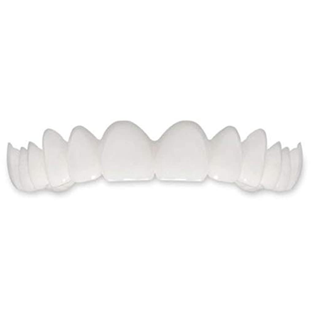 著名な調停するエスカレーターTooth Instant Perfect Smile Flex Teeth Whitening Smile False Teeth Cover-ホワイト
