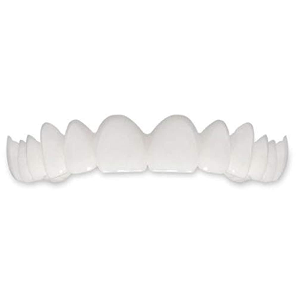 減衰そっと閉塞Tooth Instant Perfect Smile Flex Teeth Whitening Smile False Teeth Cover-ホワイト