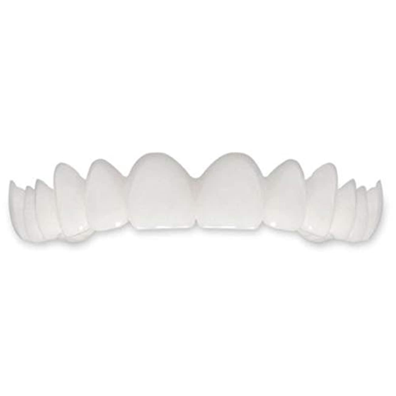 推定聖職者好きTooth Instant Perfect Smile Flex Teeth Whitening Smile False Teeth Cover-ホワイト