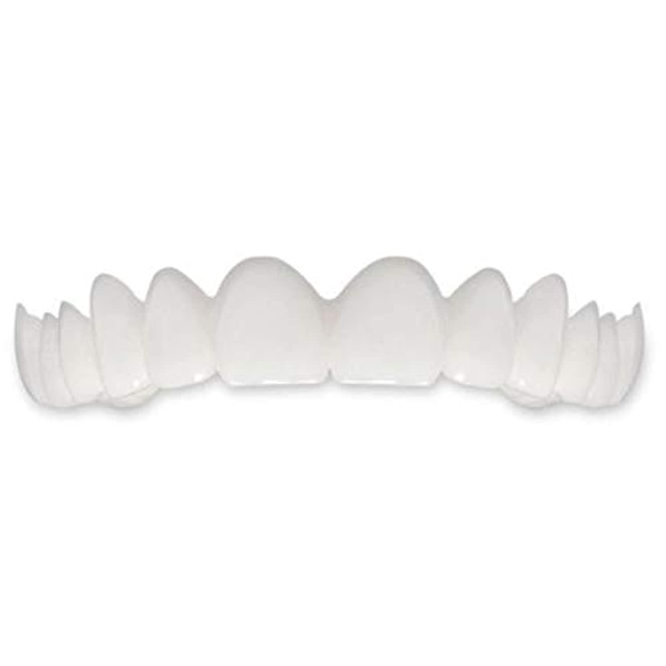 布区別するメロドラマTooth Instant Perfect Smile Flex Teeth Whitening Smile False Teeth Cover-ホワイト