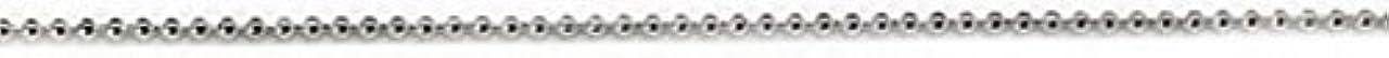 肖像画宿る吹きさらしプリティーネイル ネイルアートパーツ ブリオンチェーン1.2mm シルバー 1m 1個