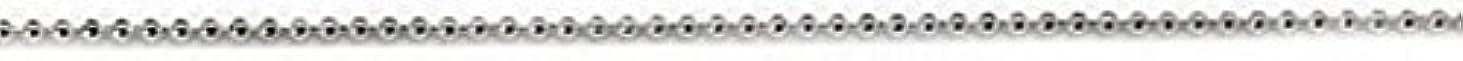 プリティーネイル ネイルアートパーツ ブリオンチェーン1.2mm シルバー 1m 1個