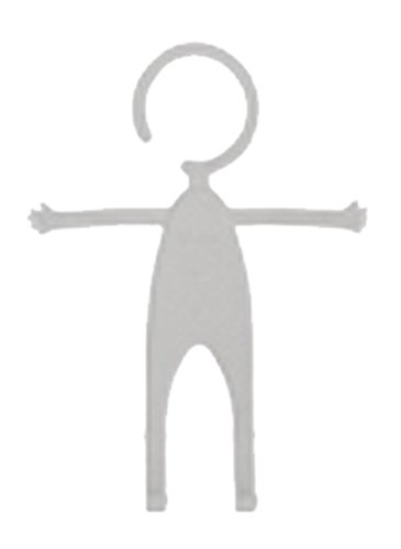 フレキシブルに100変化する人形型スマホホルダー (ホワイト)...