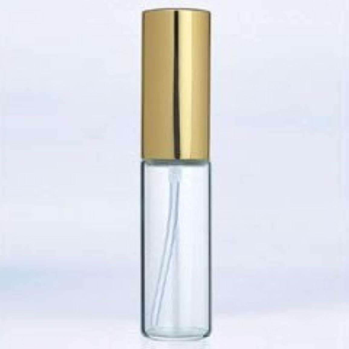 閲覧するマイクより【ヤマダアトマイザー】グラスアトマイザー プラスチックポンプ 無地 6201 アルミキャップ ゴールド 10ml