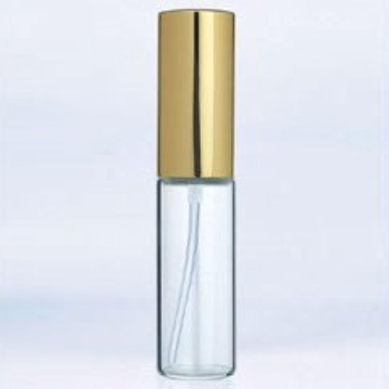 事故ローブ生き物【ヤマダアトマイザー】グラスアトマイザー プラスチックポンプ 無地 6201 アルミキャップ ゴールド 10ml