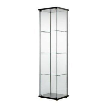 RoomClip商品情報 - IKEA(イケア) DETOLF ブラックブラウン 70182172 ガラス扉キャビネット、ブラックブラウン