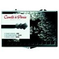 Conte 0.25 X 0.25 X 2.5で。クレヨンin Plasticボックス – 2b tip44 ; black44 ;パック12