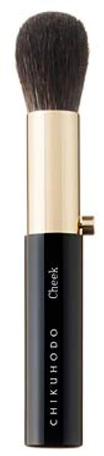 微生物重さ悪意熊野筆 竹宝堂 正規品 携帯用シリーズ チークブラシ H-1 毛材質:灰リス/馬 広島 化粧筆