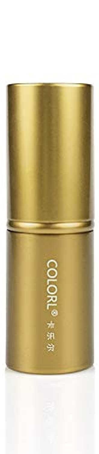 最小混乱ノーブルCOLORL メイクブラシ 1本 化粧ブラシ 化粧筆 ファンデーションブラシ フェイスブラシ パウダーブラシ 多機能 ゴールド