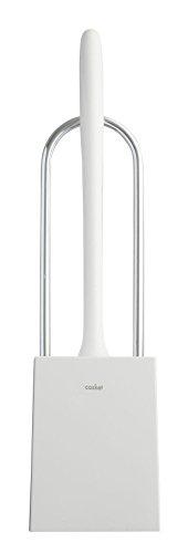 aisen 取っ手付トイレブラシ ケース付 カスケット ホワイト 9.2×9×36.5cm