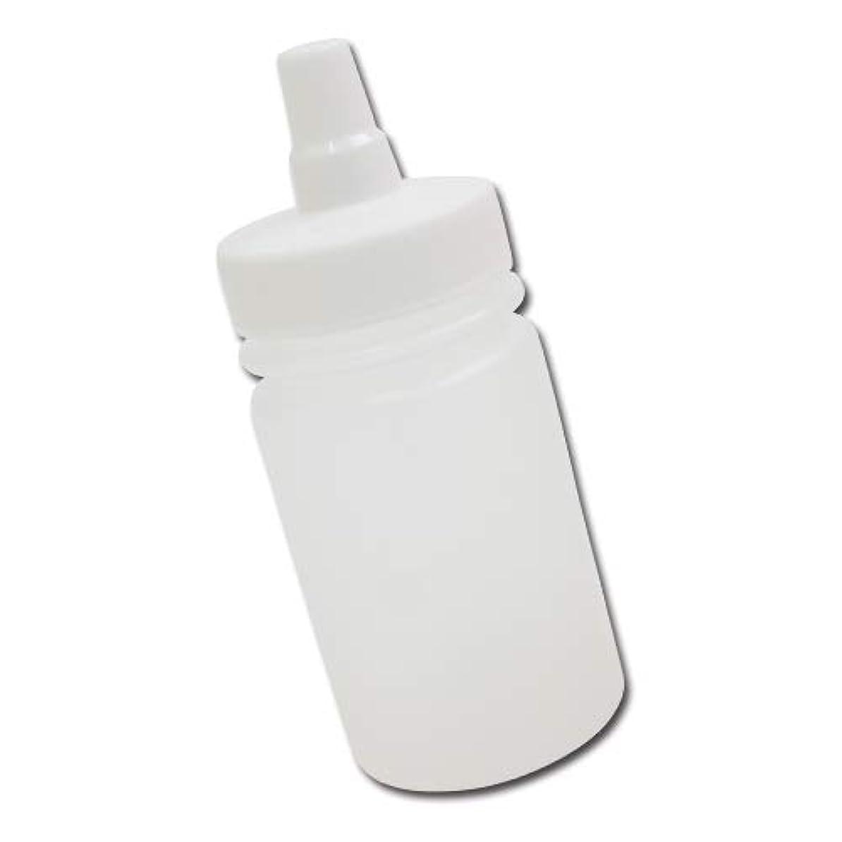 知るズームインするコミットはちみつ容器100ml(ホワイトキャップ)│ストレート型 業務用ローションや調味料の小分けに詰め替え用ハチミツ容器(蜂蜜容器)はちみつボトル