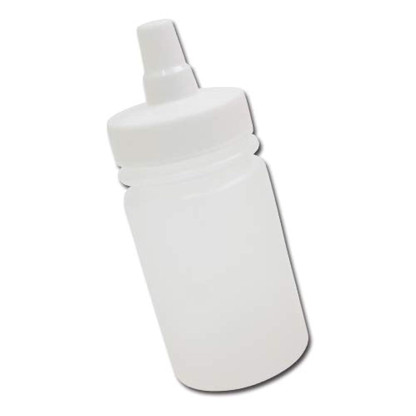 ビルダースイス人値下げはちみつ容器100ml(ホワイトキャップ)│ストレート型 業務用ローションや調味料の小分けに詰め替え用ハチミツ容器(蜂蜜容器)はちみつボトル