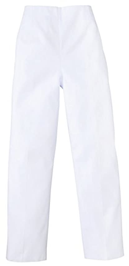 殺人スーパー異邦人医療/介護ユニフォーム レディストレパン(後ゴム) ホワイト KAZEN アプロン 3L  820-40