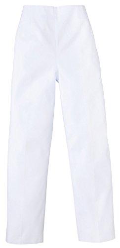 医療/介護ユニフォーム レディストレパン(後ゴム) ホワイト KAZEN アプロン S 820-40