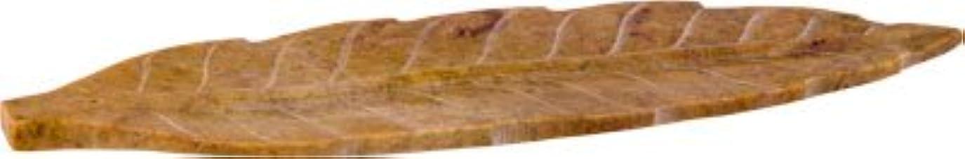 祖母ファーザーファージュ持っているIncense Holder – ソープストーン彫刻リーフ10