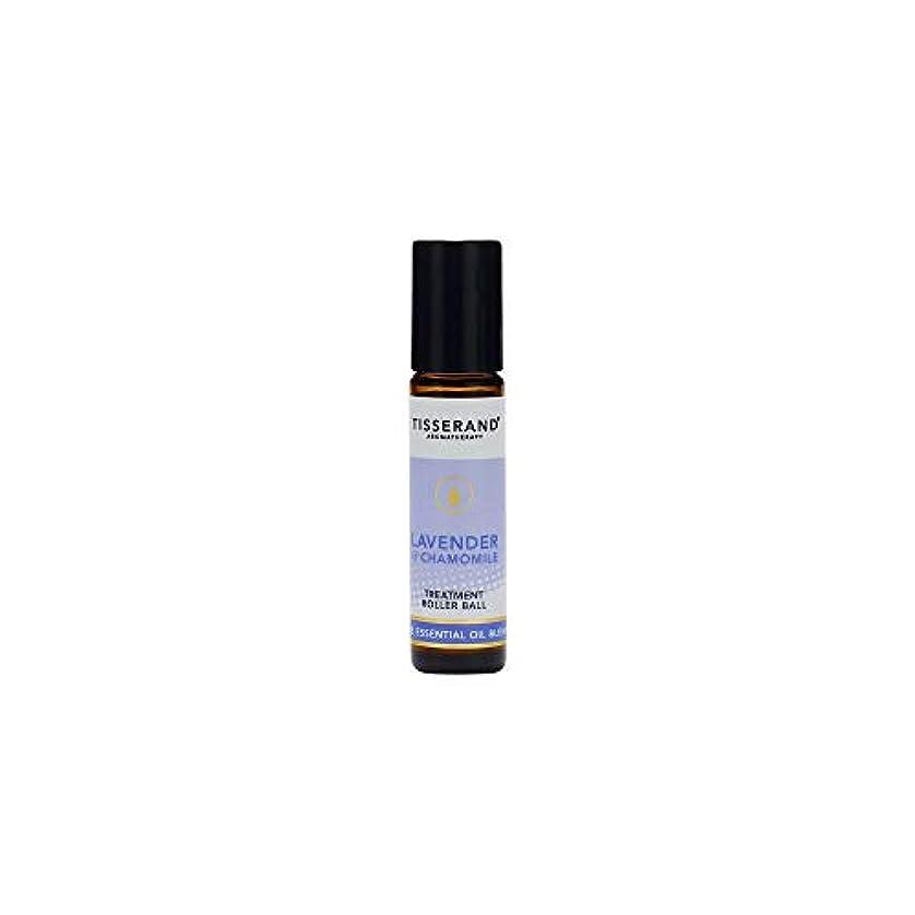 木製大騒ぎランチョン[Tisserand] ティスランドアロマラベンダー&カモミール精油ローラーボール10ミリリットル - Tisserand Aromatherapy Lavender & Chamomile Essential Oil...