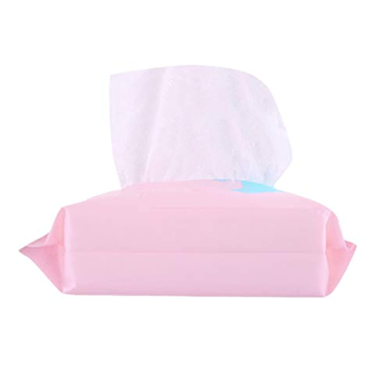 抵抗同化する配るLurrose 1 Bag Disposable Face Towel Facial Cotton Tissue Soft Cotton Pads Makeup Facial Soft Pads Pink (100pcs...