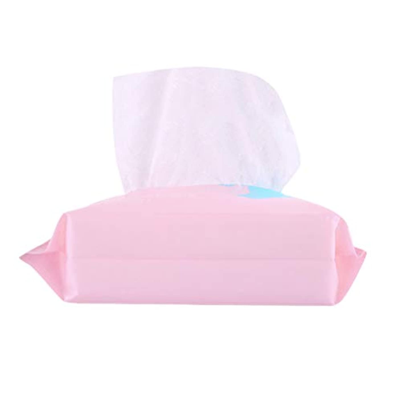 すずめカートン平日Lurrose 1 Bag Disposable Face Towel Facial Cotton Tissue Soft Cotton Pads Makeup Facial Soft Pads Pink (100pcs...
