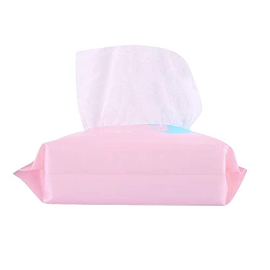 意義気候機械Lurrose 1 Bag Disposable Face Towel Facial Cotton Tissue Soft Cotton Pads Makeup Facial Soft Pads Pink (100pcs in 1 Bag)