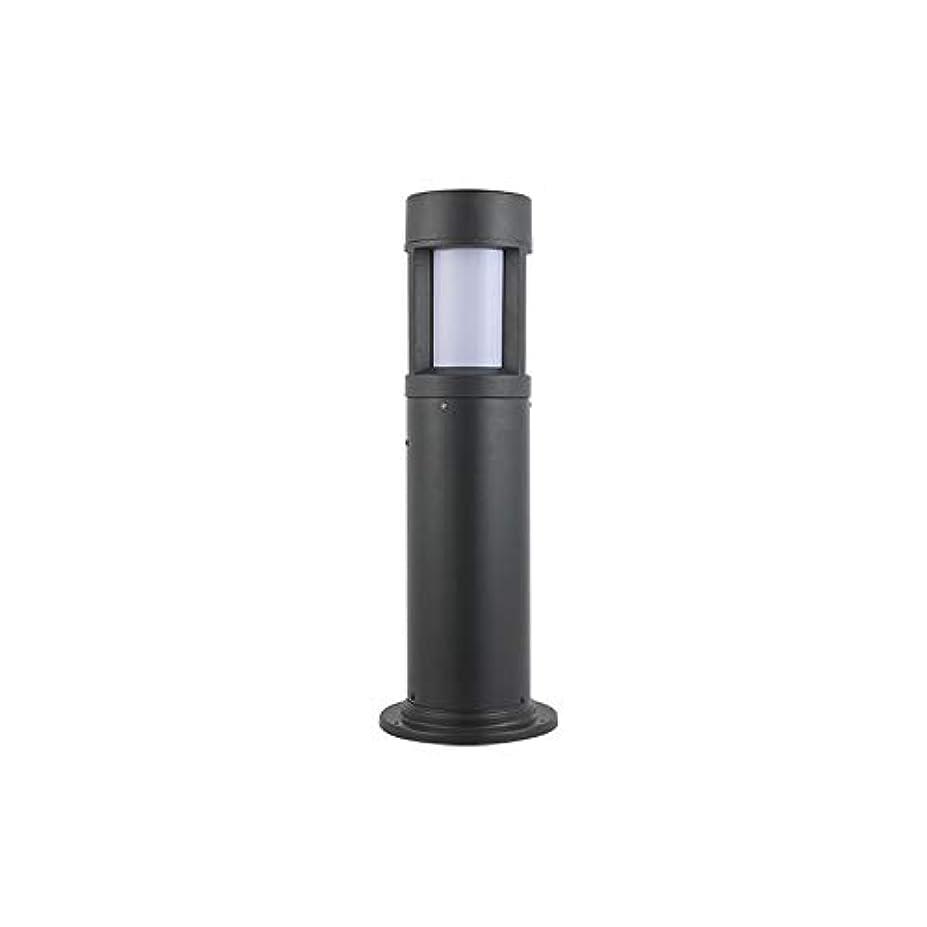 避難回答霧Pinjeer E27現代クリエイティブラウンドブラックアクリルポストライトヨーロッパの高さ60センチip54防水屋外ピラーライト風景ガーデン芝生ストリートコミュニティ装飾列ランプ