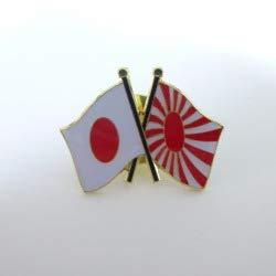 国旗ピンバッジ(日本と旭日旗)