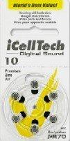 iCellTech iセルテック サイズ10 補聴器用バッテリー (電池60ヶ入り) (並行輸入)