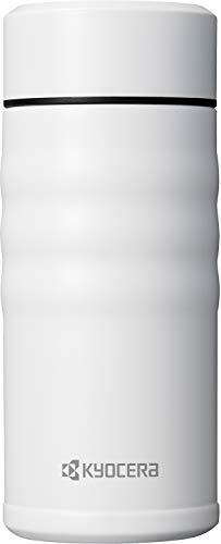 京セラ 水筒 マグボトル セラミック 塗装加工 350ml ホワイト スクリュー栓 セラブリッド Kyocera MB-12S WH