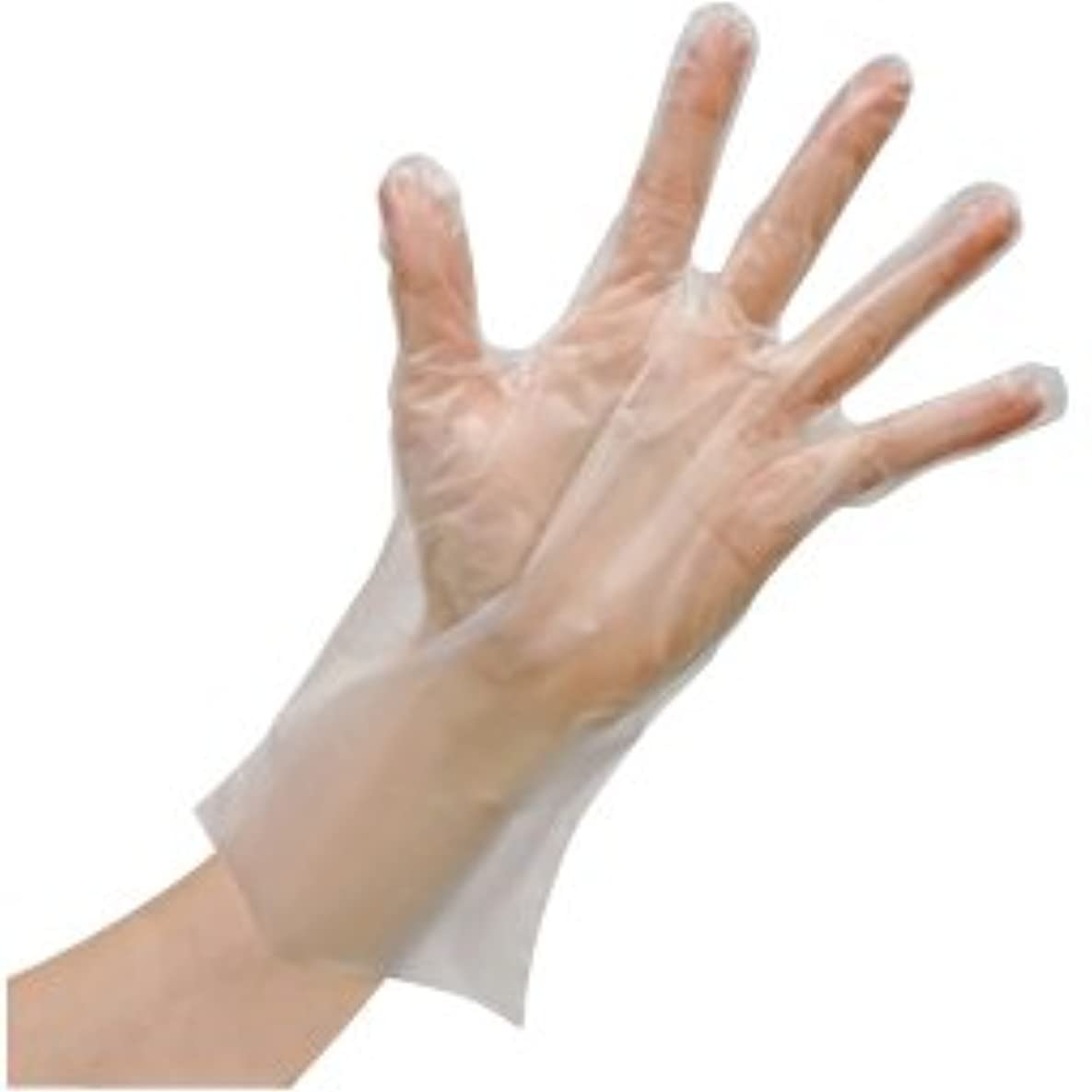 威信侮辱包囲使いきりLDポリエチレン手袋(箱) FR-5812(M)100???? ?????LD????????(??)(24-6743-01)【ファーストレイト】[60箱単位]
