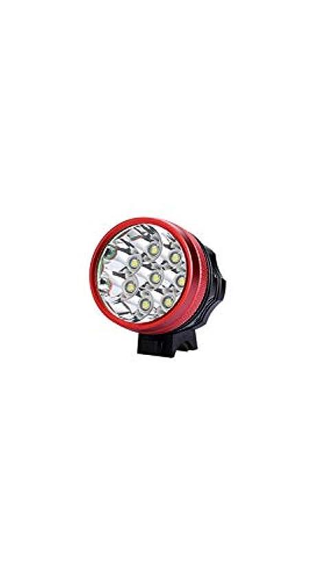 ペネロペ敬な騙すSCRT マウンテンバイクライトフロントライト懐中電灯防水および耐衝撃性の夜の乗馬装置 (Color : Red)