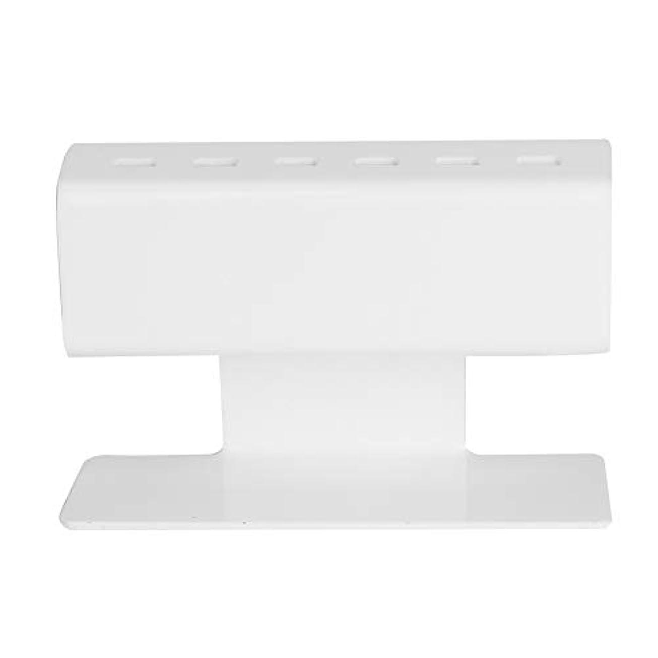 びっくりモールス信号習字ピンセットシェルフホルダー、まつげ延長プラスチック6個セットピンセットスタンドの位置(白い)