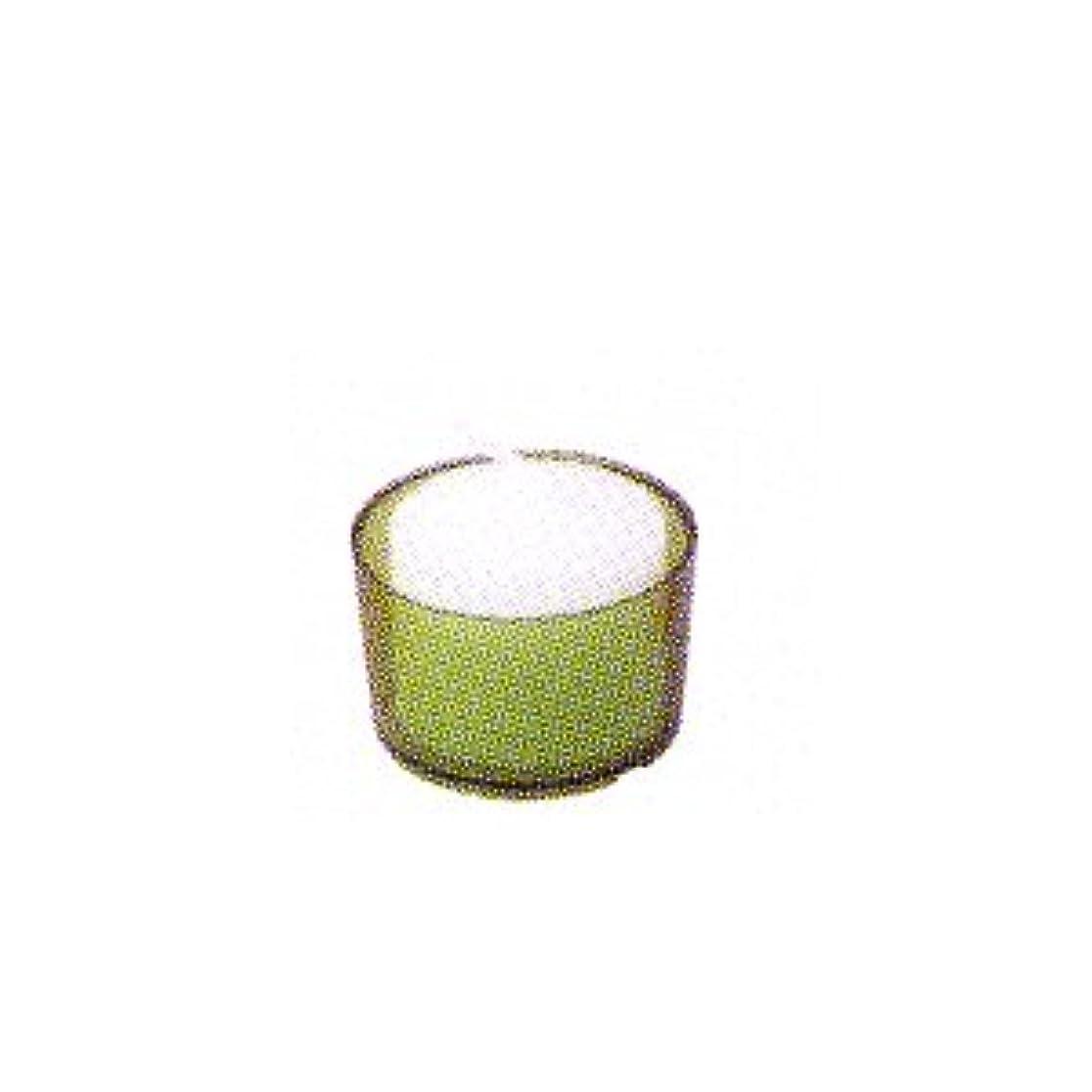 ストラップ柔らかい足療法カメヤマキャンドル カラークリアカップ ボーティブ6 グリーン 24個入