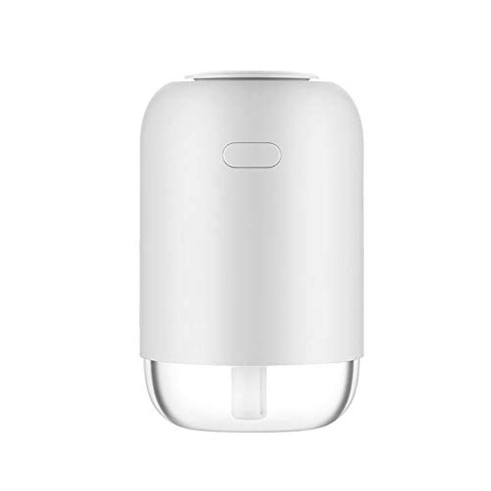 ディーラー日帰り旅行にバッグフェイスケア 美容器 TJK USB加湿器 卓上USB加湿器 車載加湿器 ペットボトル型 300ML容量 アロマディフューザー 補水美顔器 8-10時間 空焚き防止機能付き(ホワイト)