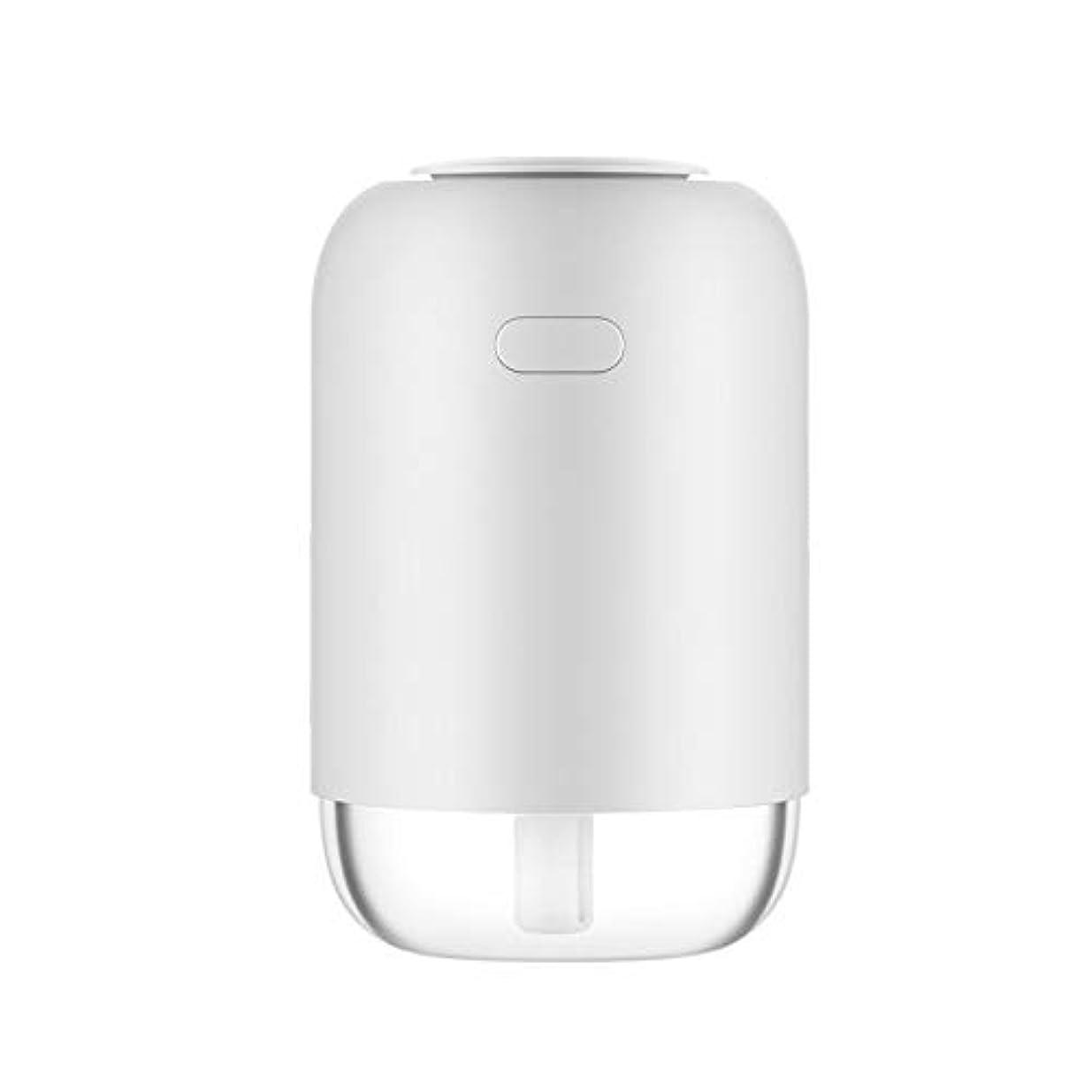 マキシム収益返還フェイスケア 美容器 TJK USB加湿器 卓上USB加湿器 車載加湿器 ペットボトル型 300ML容量 アロマディフューザー 補水美顔器 8-10時間 空焚き防止機能付き(ホワイト)