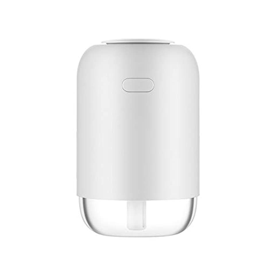 ゆでる特徴づける脆いフェイスケア 美容器 TJK USB加湿器 卓上USB加湿器 車載加湿器 ペットボトル型 300ML容量 アロマディフューザー 補水美顔器 8-10時間 空焚き防止機能付き(ホワイト)