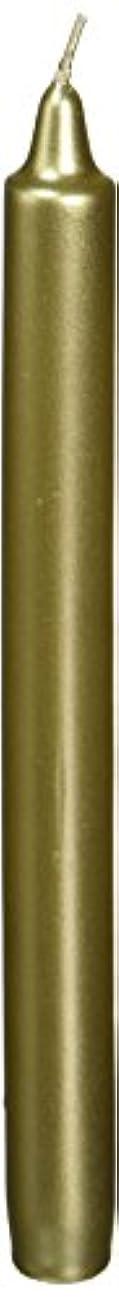 Zest Candle CEZ-105 10 in. Metallic Gold Straight Taper Candles -1 Dozen