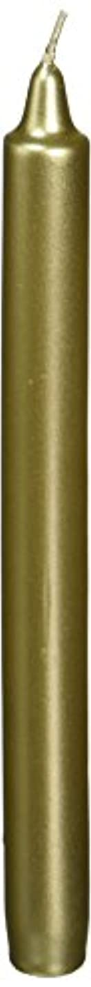 夜チョコレート追放Zest Candle CEZ-105 10 in. Metallic Gold Straight Taper Candles -1 Dozen
